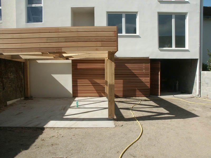 Porte de garage et Pergola carport