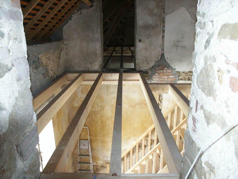 Renovation Charpente - Château de la Frogerie