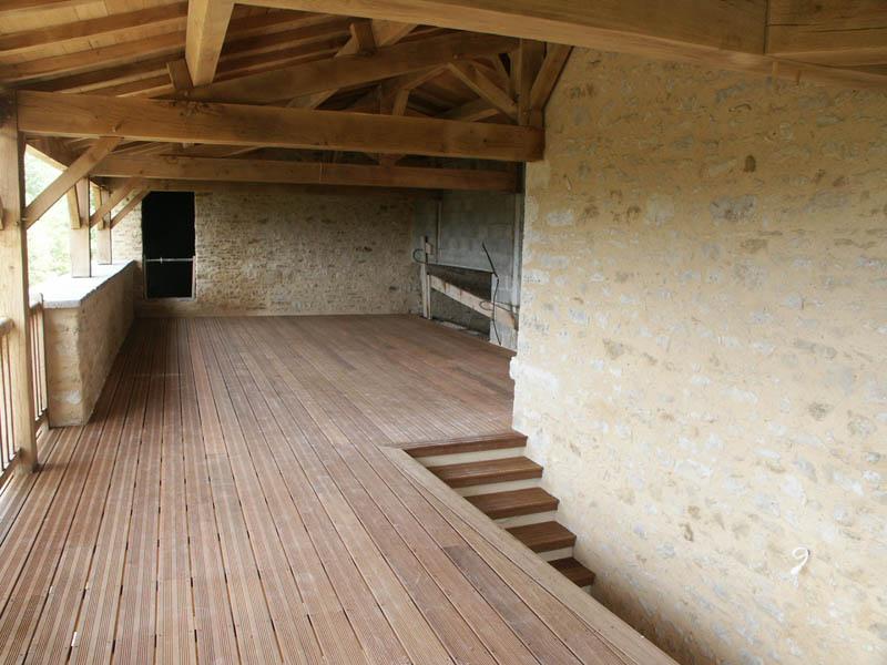 Terrasse et charpente à Cezais (85)