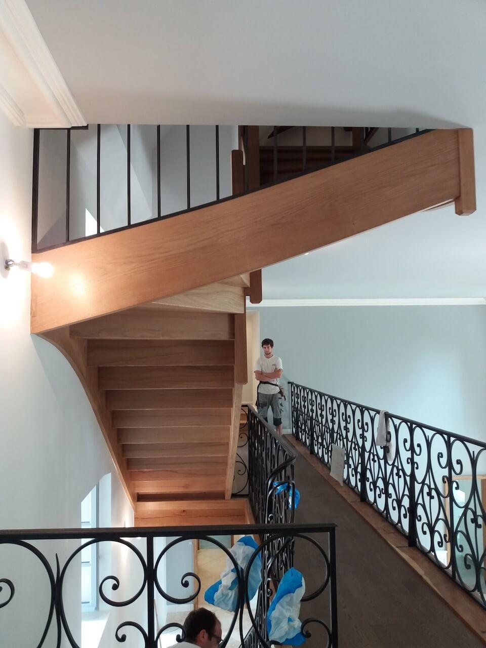 Escalier dans le Château de Chavaignes