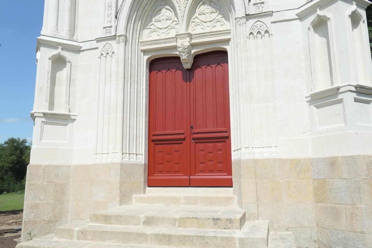 Porte de la chapelle Chantrerie